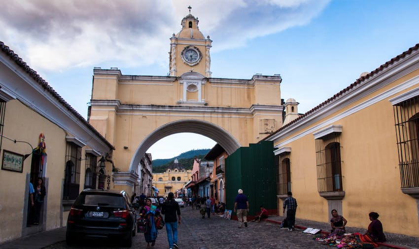 You can't miss the iconic arch in Antigua Guatemala