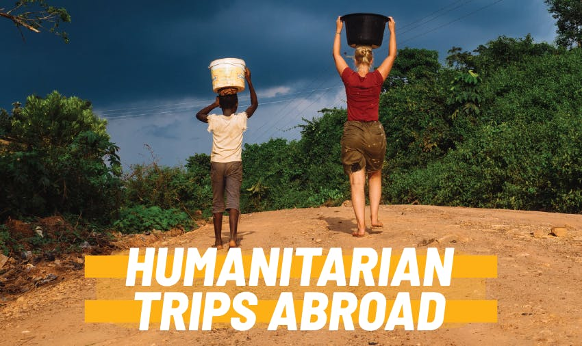 Explore these recommended humanitarian trips abroad