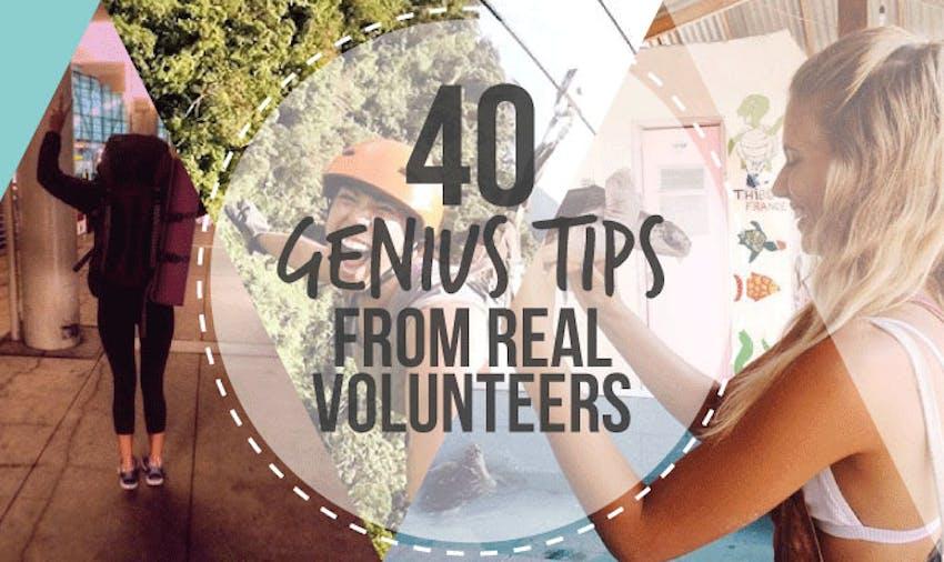 40 Genius Tips from Real Volunteers