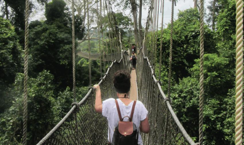 Volunteer weekends in Ghana - Cape Coast bridge