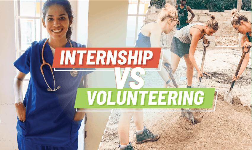 Internship vs volunteering