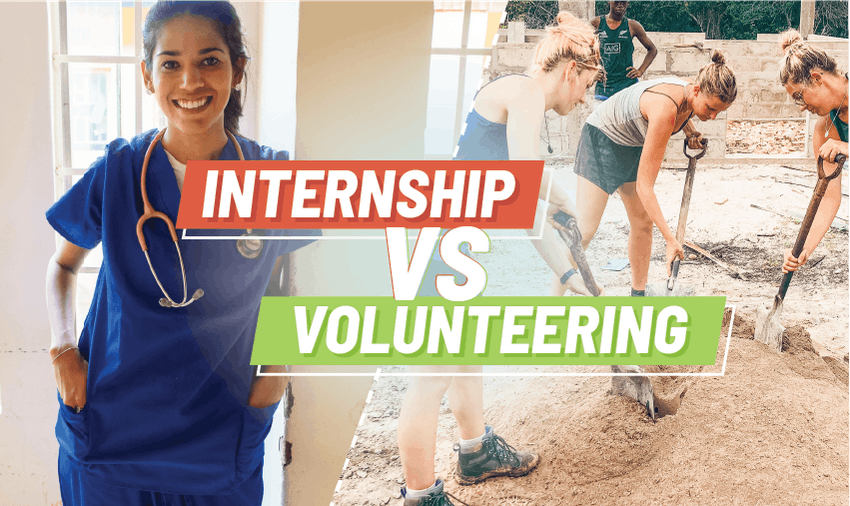 Internship vs volunteering