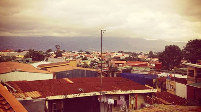The view from the IVHQ volunteer homestay in Costa Rica