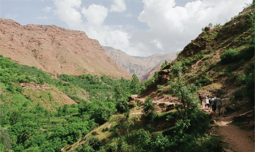 Adventure holiday abroad in the Atlas mountains volunteering in Morocco with IVHQ
