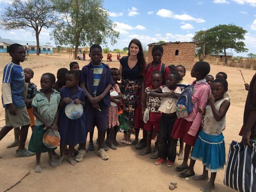 IVHQ volunteer Sidney as a teaching volunteer in Zambia