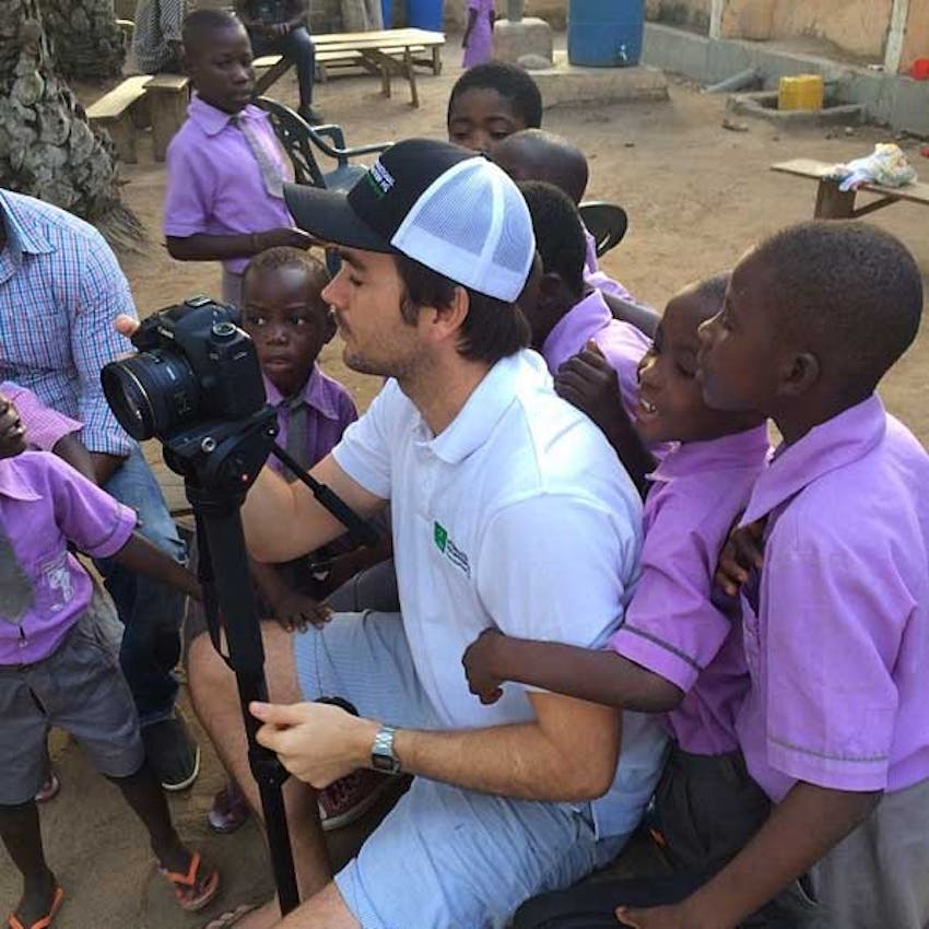 IVHQ videographer George in Ghana