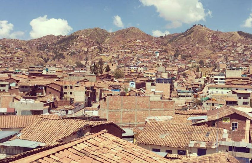 The view as a volunteer in Cusco with IVHQ