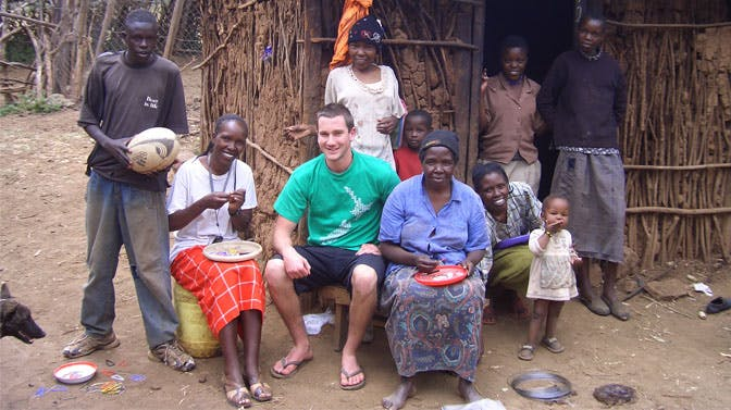 IVHQ Founder Dan Radcliffe in Kenya