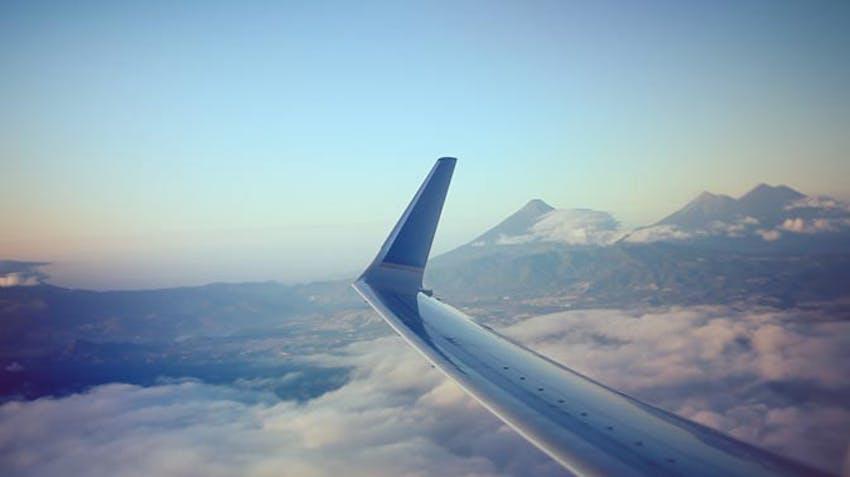 Flying over Guatemala