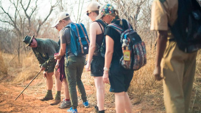 Working as a team as a volunteer group in Victoria Falls