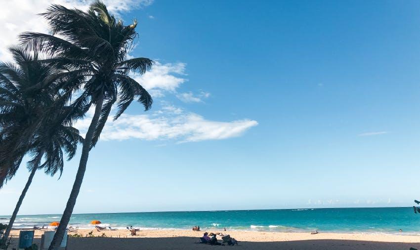 A typical white san Puerto Rican beach