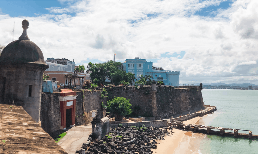 San Juan fort on the waterfront