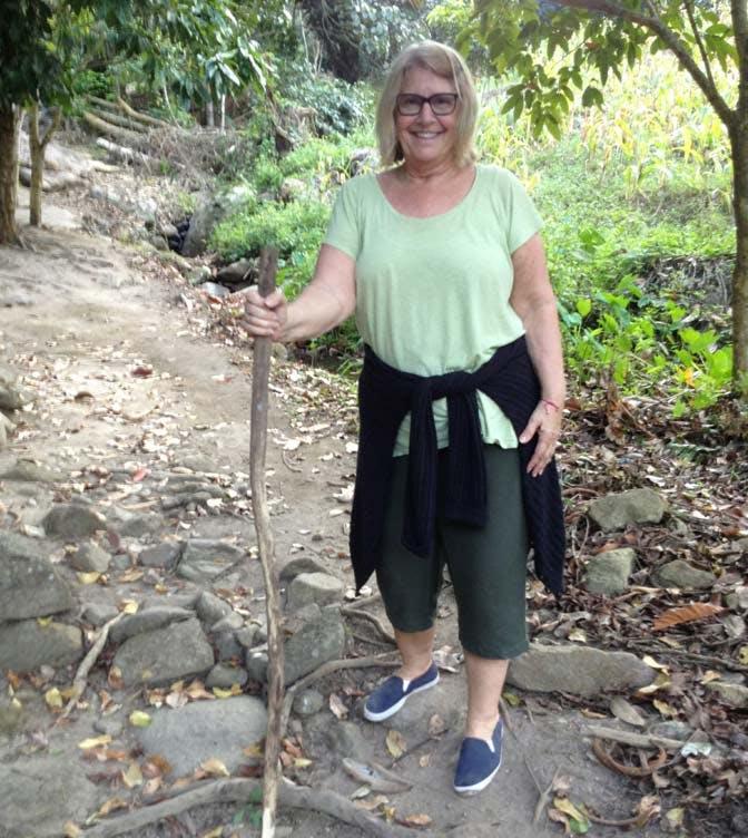 Hiking during an IVHQ weekend as an older volunteer in Thailand