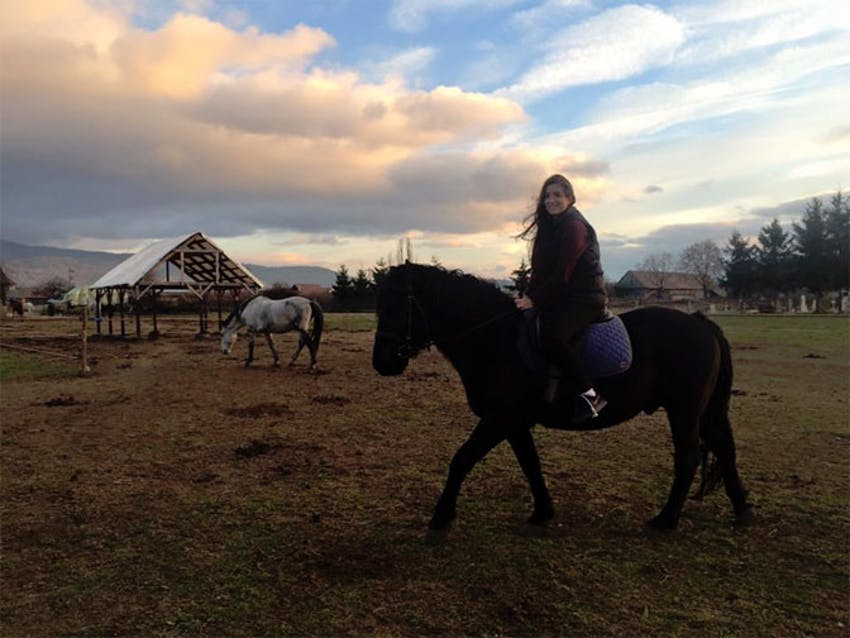 Horse riding in Romania with IVHQ