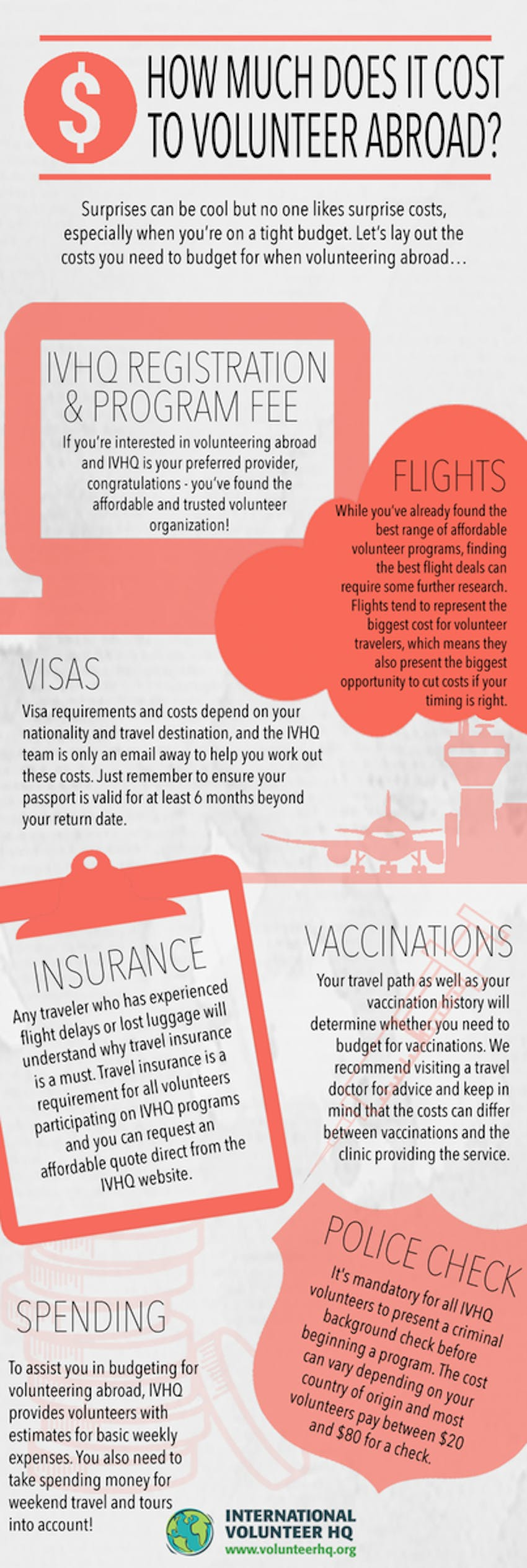 INFOGRAPHIC - How much does it cost to volunteer abroad?