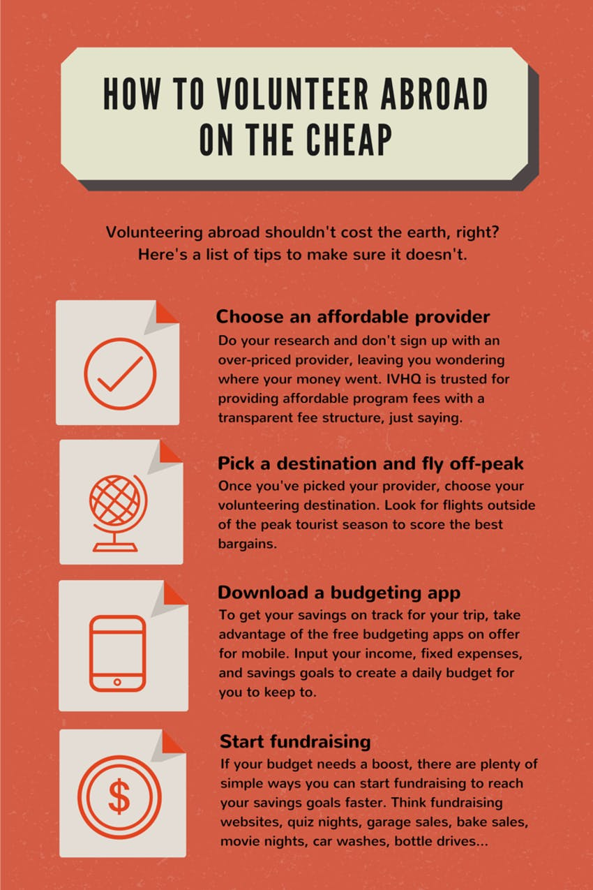 Infograhic: How To Volunteer of the Cheap