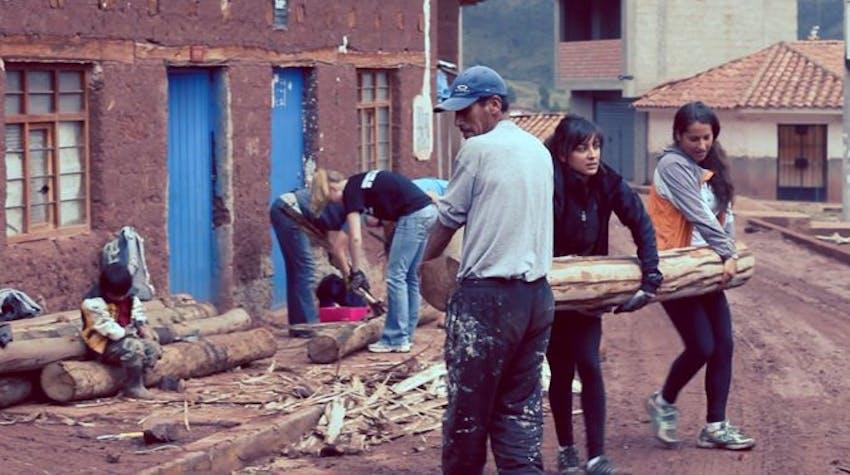 Volunteer as a builder at home