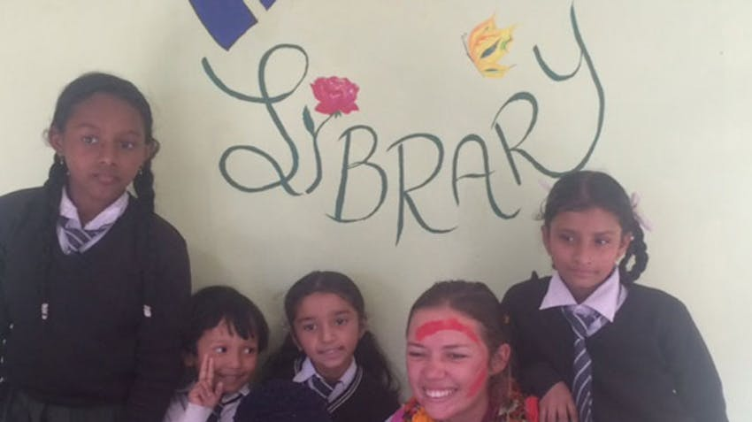 International Volunteer Emily in Nepal