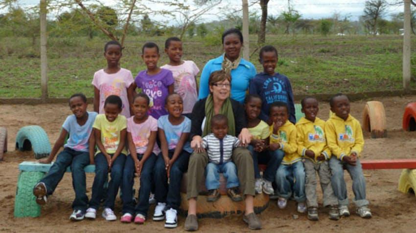 IVHQ volunteer, Linda in Tanzania