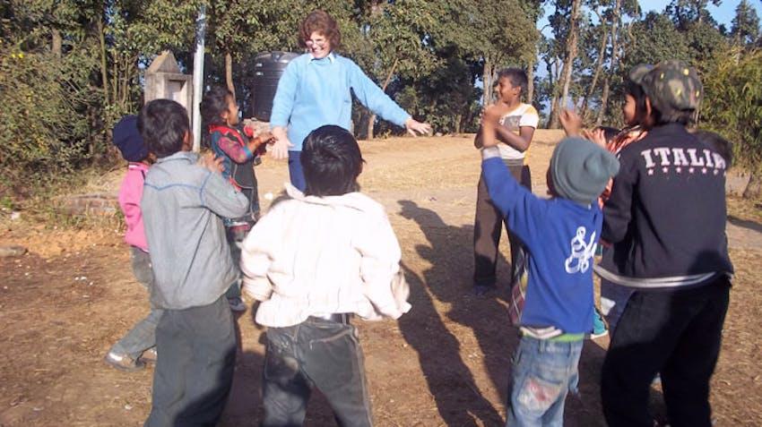 International volunteer Susan in Nepal