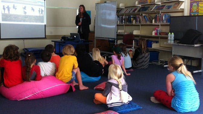 Olympic Rower, Rebecca Scown, presentation in New Zealand with IVHQ