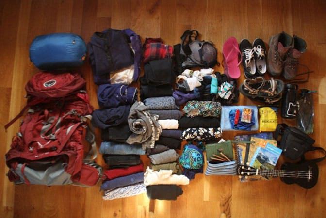 IVHQ volunteer Carmen's packed bags