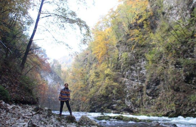 IVHQ volunteer, Carmen, traveling through Slovenia