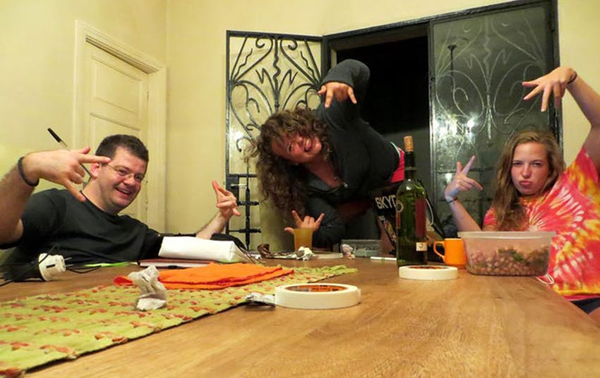 Making friends in the IVHQ Brazil volunteer house