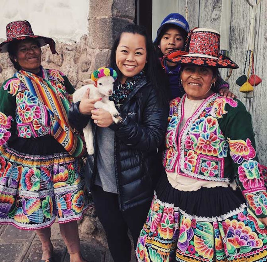 Meeting the locals as an IVHQ volunteer in Peru