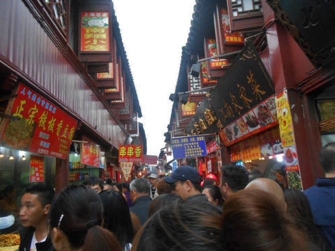 Exploring the markets in Shanghai