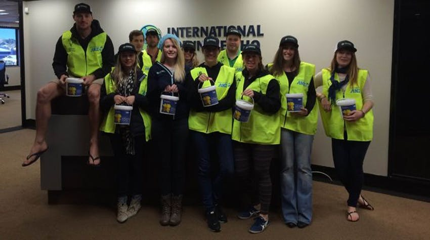 IVHQ Crew Collecting on Daffodil Day