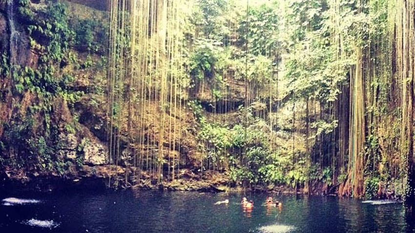 A trip to the famous Mexican Cenotes during an IVHQ volunteer program