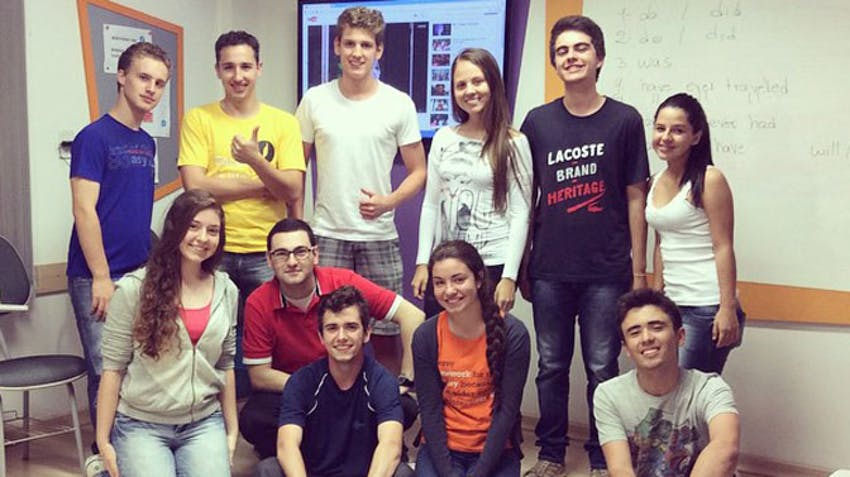 IVHQ scholarship winner, Armando, as a teacher at home in Brazil