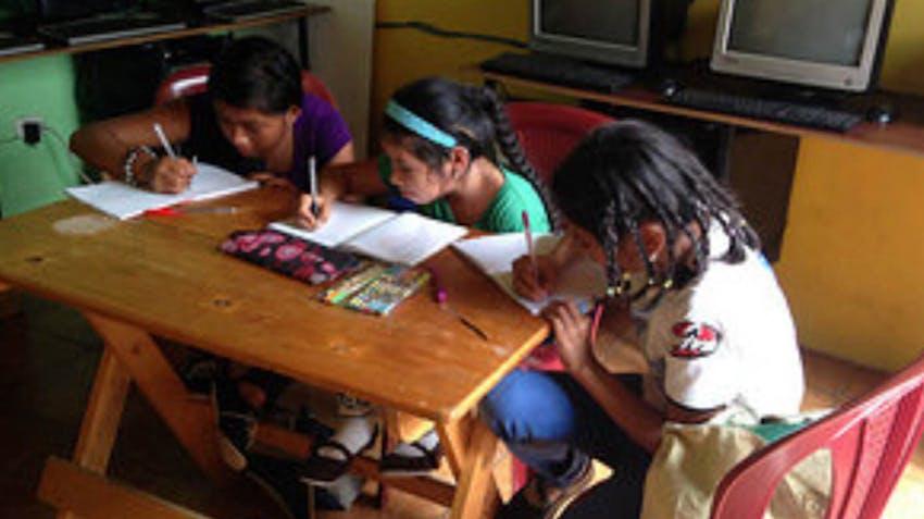 IVHQ Scholarship winner's students hard at work