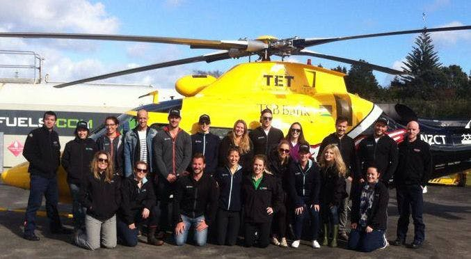 IVHQ support the local Taranaki Rescue Helicopter