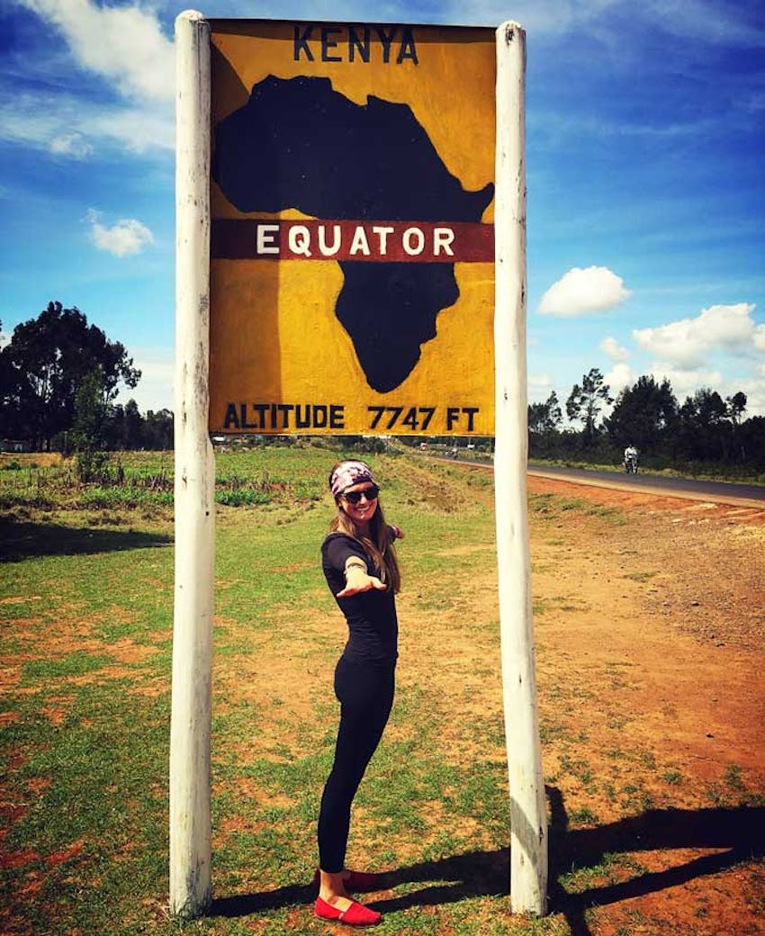 IVHQ volunteer Liz Hesterburg volunteering in Kenya with IVHQ