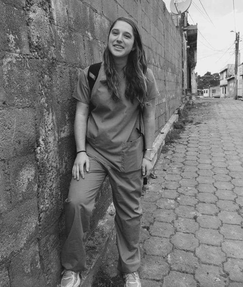 IVHQ Medical Volunteer in Guatemala in scrubs