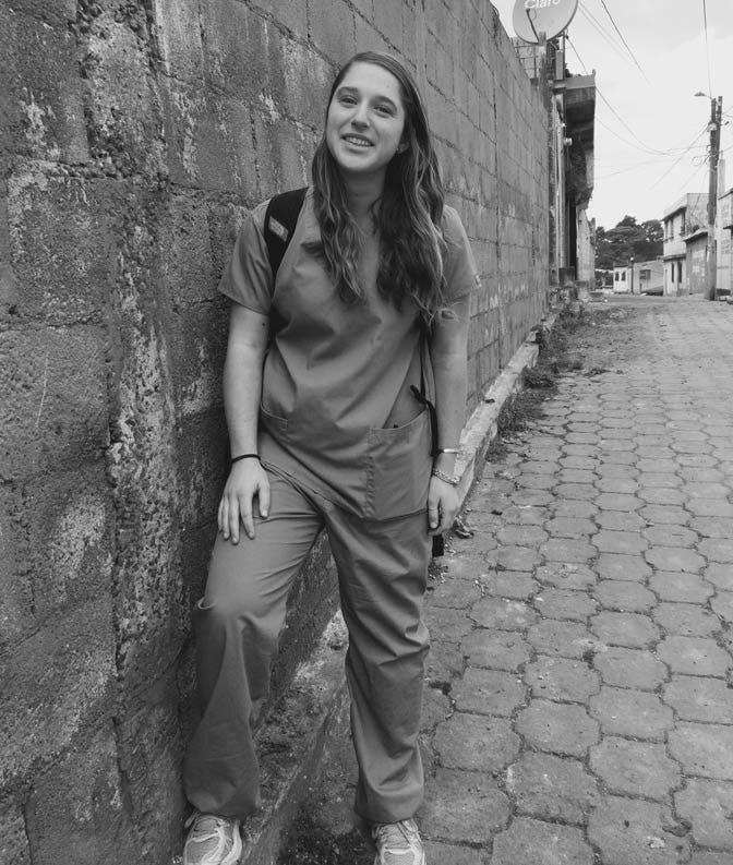 IVHQ Medical Volunteer in Guatemala in scrubs