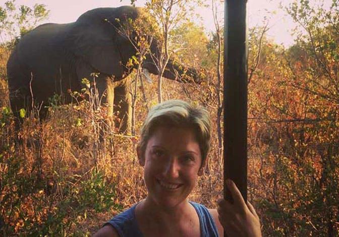 IVHQ volunteer in Melanie in Victoria Falls with IVHQ