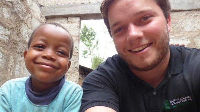 IVHQ's William Rowland in Tanzania