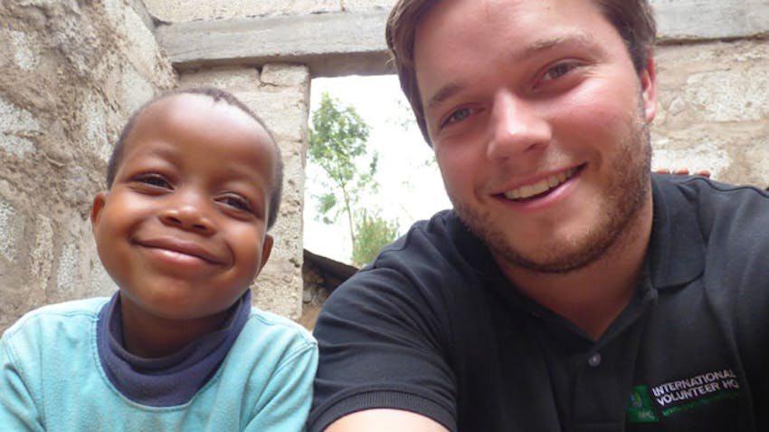 IVHQ's William Rowland in Tanzania