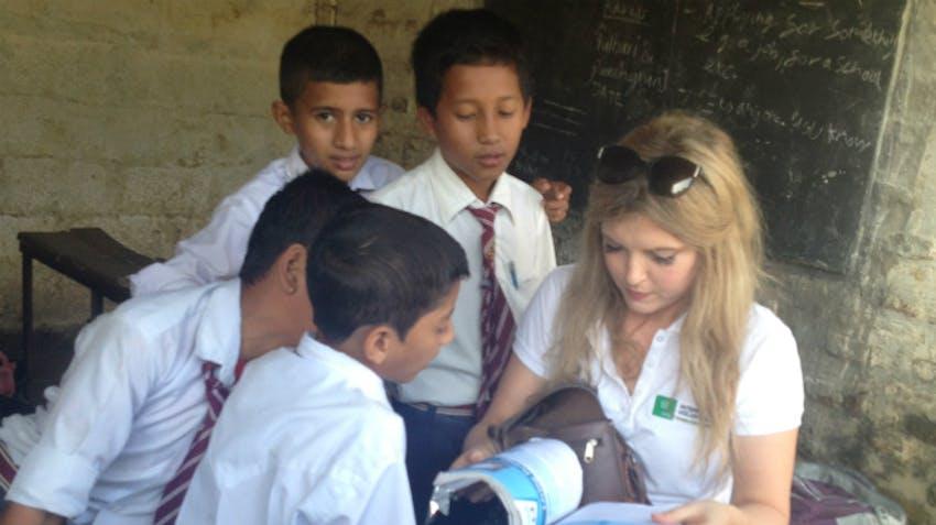 Kate IVHQ Helping In Chitwan