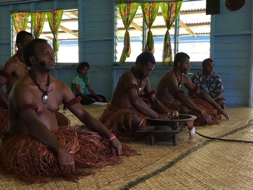 Experience a Kava Ceremony as part of orientation in Fiji with IVHQ