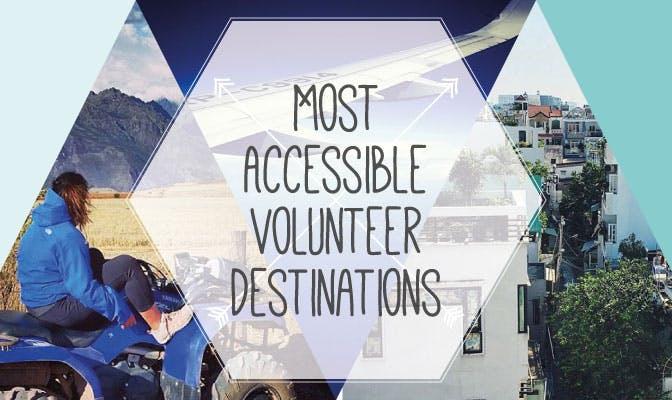 Most accessible volunteer destinations with International Volunteer HQ