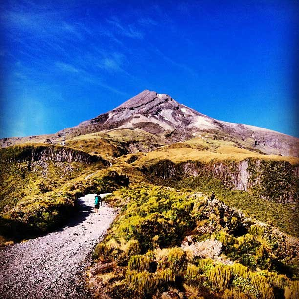 The view of Mt Taranaki - where IVHQ is based