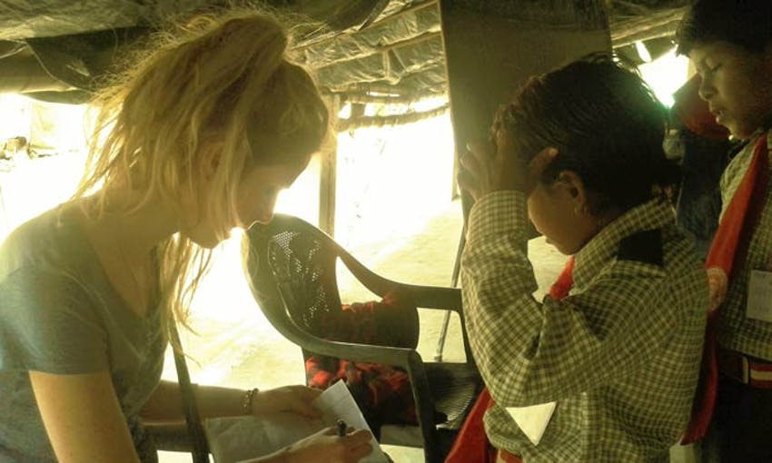 Slum teaching in Delhi with IVHQ