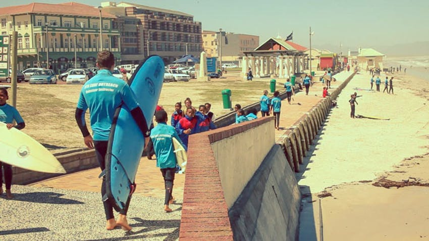Become a surf volunteer abroad in South Africa with IVHQ