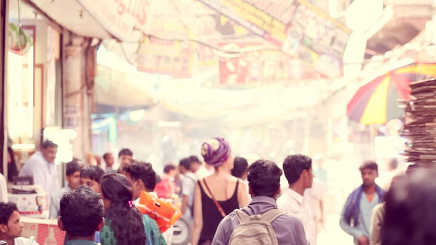 Visiting local markets in India during an IVHQ volunteer abroad experience