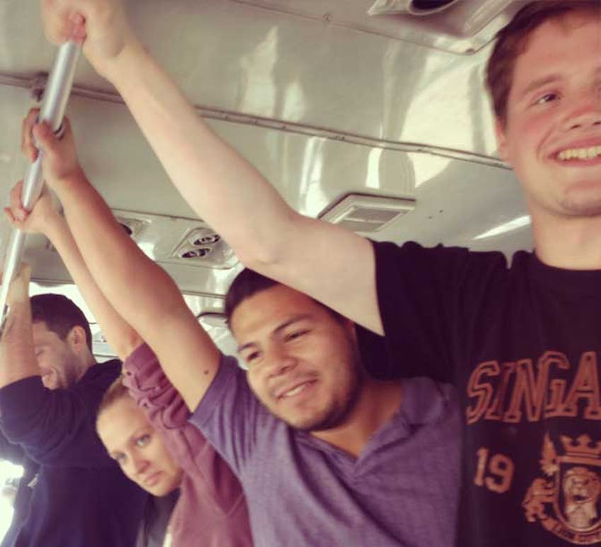 Volunteering in Peru - Bus Ride in Lima