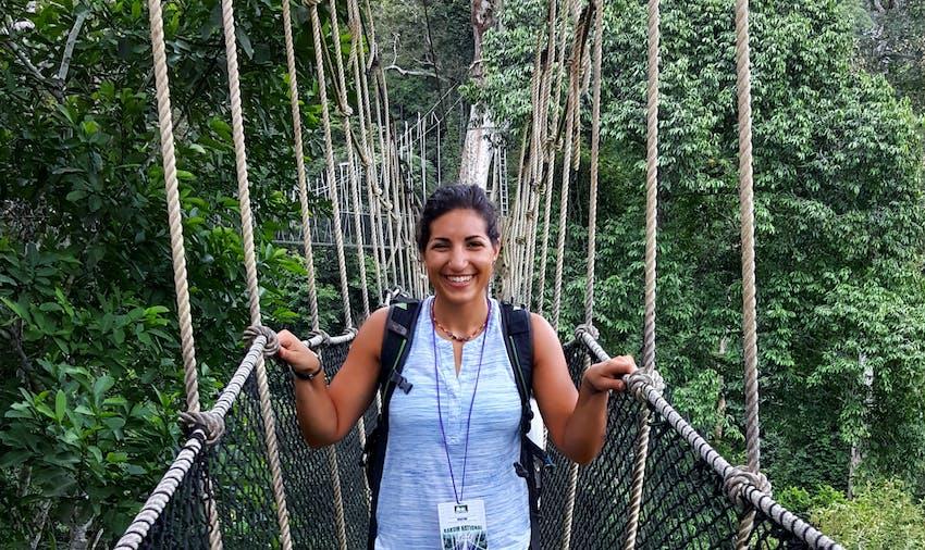 Walk through the treetops in Ghana